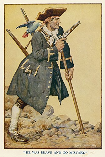 mary-evans-picture-library-pirate-long-john-silver-with-his-parrot-on-his-shoulder-kunstdruck-6096-x