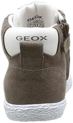 Geox Jr Kiwi Boy, Sneaker Bambino Beige (DK Beige/White)