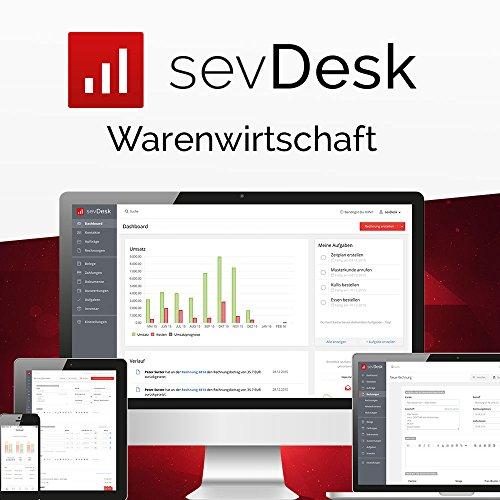 sevDesk Warenwirtschaft - 1 Jahreslizenz- die Online- Buchhaltung, Rechnungsprogramm, Lagersoftware (Cloud Lösung)