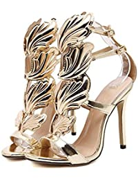 Womens ladies mid low high heel strappy barely there party wedding prom sandals size shoes