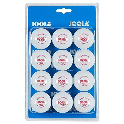 JOOLA Tischtennis-Bälle Training 40mm, Weiß, 12er Blister Pack