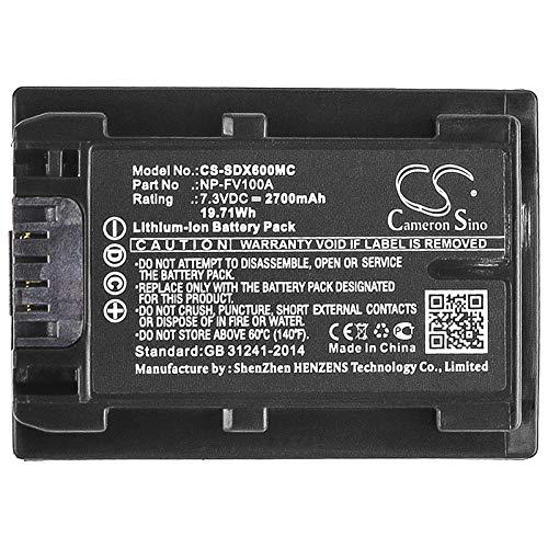 CS-SDX600MC Batteria 2700mAh compatibile con [SONY] FDR-AX33, FDR-AX40, FDR-AX45, FDR-AX53,...