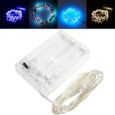 LED String Light, 7 Colors 3M 30 Leds Copper Wire Fairy Lights Battery Operated Christmas Outdoor Lights for Christmas Party, Outdoor Patio, Wedding, Indoor Decoration