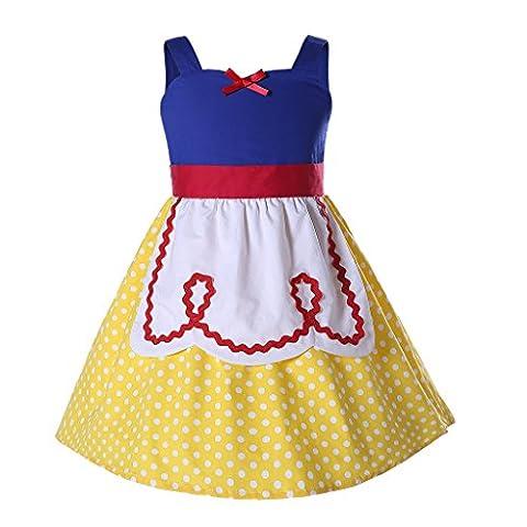 Pettigirl Mädchen Prinzessin Kostüm Schick Ankleiden Halloween Party Kleider130 cm (Ziemlich Weihnachten Kleider Für Mädchen)