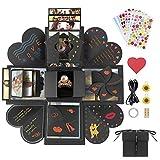 Jooheli Explosions Box, Überraschung Box DIY Faltendes Fotoalbum Geschenkbox Geburtstag Jahrestag Valentine Hochzeit Geschenk, für Hochzeit, Muttertag, DIY Geschenk (Schwarz)