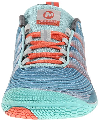 Merrell VAPOR GLOVE 2 Damen Outdoor Fitnessschuhe SEA BLUE/CORAL