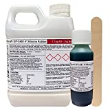 Polycraft GP-3481F RTV Silicone Mould Making Rubber 1.1kg Kit (Green Very Fast Catalyst) GP3481