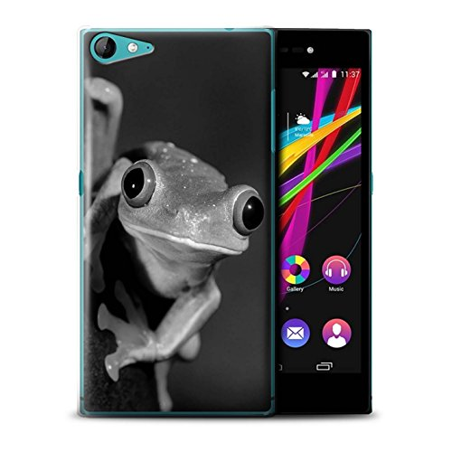 Stuff4® Hülle/Case für Wiko Highway Star 4G / Frosch Muster/Zoo-Tiere Kollektion