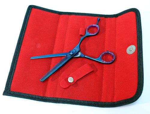 bdeals blau Color Professional Effilierschere, Barber Schere 16,5cm Edelstahl Scheren