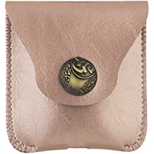 MOSISO AirPods PU Leder Hülle, Air Pods Tragen Tasche Hülse Weich Case Beutel (Charge AirPods without Removing Case) für Airpods, Rose Gold