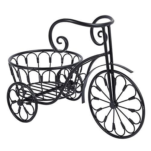 GOTOTOP Soporte de Planta de Hierro Forma de Bicicleta Estantería Decorativa de Hierro para Macetas...
