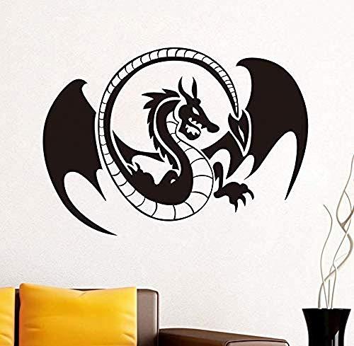 Wall sticker pterosauri vinyl wall art decal adesivo autoadesivo western dragon tribal tattoo wall art sticker rimovibile home docor82x58cm