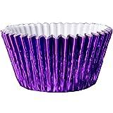 56 Classikool Metallic Purple Foil Greaseproof Cupcake Baking Cup Cake Cases [FREE UK Post]