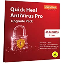 Quick Heal Antivirus Pro- Renewal Pack - 1 User, 3 Years (Email Delivery in 2 Hours - No CD)-Existing  Quick Heal AV Pro subscription needed