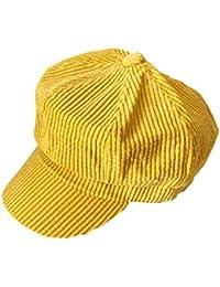 ACVIP Women s Candy Color Corduroy Newsboy Cap Baker Boy Hat Khaki f7f447cc24ce