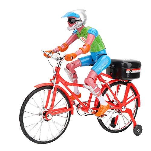 Modello di Bicicletta ad Alta Simulazione con Musica Elettrica Giocattoli per Bici Equitazione Realistici Casa Ufficio Camera Decorazione Compleanno Natale Regalo per 7 8 9 10 Anni Bambino Bambini