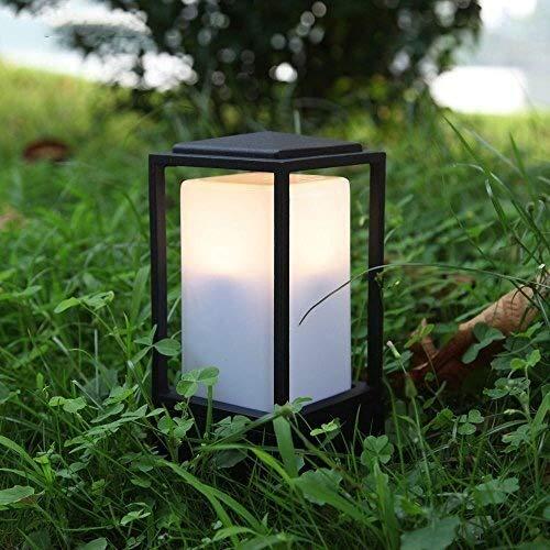 hte Garten im Freien Wandleuchte Lampe Patio Wegebeleuchtung Post Lampe Lichter IP44 Einfahrt Patio Schwarz Kleine Gartenleuchte Perfekt für Patio Cafe Girlande Villa Eingangsdekor ()