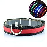 FAVOLOOK LED Blinkendes Hundehalsband, 3Modi superhelles LED-Licht zur Sicherheit bei Nacht, wasserdicht, Halsband mit verstellbare Schnalle und Akku für kleine, mittlere, große Welpen, Hunde, Katzen, und andere Haustiere