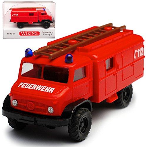Wiking Mercedes-Benz Unimog S Feuerwehr Rot H0 1/87 Modell Auto
