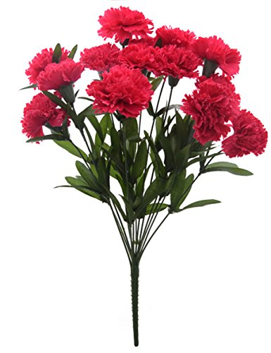 Fourwalls 48 cm tall Artificial Carnation Bunch with 14 flower heads
