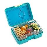 Yumbox Mini XS Snackbox (Cannes Blue) - Kleine Kinder Bentobox, 3 Fächer - Brotdose mit Unterteilung für Krippe, Kita oder kleinen Snack Unterwegs