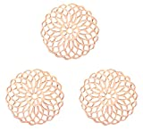 Nuoli Schmuckverbinder Mandala Rosegold (3 Stück) Armband Zwischenstück 15mm, Metall Anhänger,...