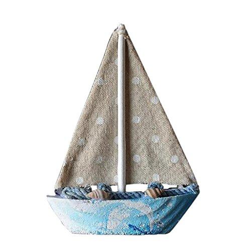 Baoblaze 5 '' Nautisches Maritim Segelboot, Mini Segelschiff Tischdeko - Segelboot 3 (Piratenschiff Holz-modell-bausatz)