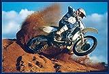 Motorcycles - Motocross - Desert Motorräder Poster Plakat - Grösse 61x91,5 cm + Wechselrahmen, Shinsuke® Maxi Kunststoff blau, Acryl-Scheibe