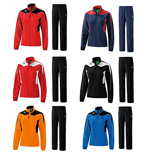 Erima Shooter Line Trainingsanzug Damen Präsentationsanzug Jogger Jogginganzug (44, Red/White/Black)