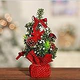 Jiobapiongxin Mini Árbol de Navidad Pequeño árbol de Navidad Decoración de Escritorio de Navidad Árbol de Navidad Decoración 20 cm