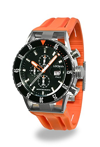 Locman Italy Men's Analog Quartz Watch with Rubber Strap 051200KOBKNKSIO