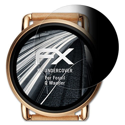 atFoliX Blickschutzfilter für Fossil Q Wander Blickschutzfolie, 4-Wege Sichtschutz FX Schutzfolie