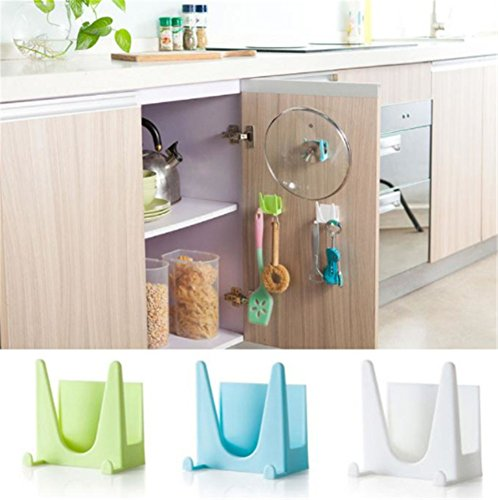 interestingr-2pcs-plastic-pot-pan-cover-shell-cover-sucker-tool-bracket-storage-holder