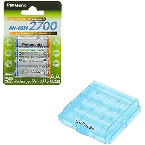 Originale Panasonic batterie 2700Mignon AA per Rollei Kids 100Olympus FE-4030per Fujifilm FinePix AX200AX230Traveler DC 120Medion Life s42016(MD 86716) s42017(MD 86901) Ricoh G700SE Rollei Sportsline 5090AgfaPhoto DC-8330i Optima 147Nikon Coolpix L19L26L620Canon PowerShot A810Tevion DC-14Kodak EasyShare C143C183C195per Sony Cybershot S3000DSC-S930Polaroid i1237Samsung ES15+ gopacks batteria Box (4x AAA/AA) Accu Battery Bateria Batteria - Optima Battery Box