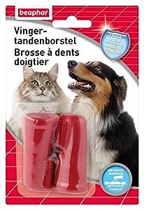 Beaphar - Buccafresh, brosse à dents doigtier - hygiène bucco-dentaire - chien et chat