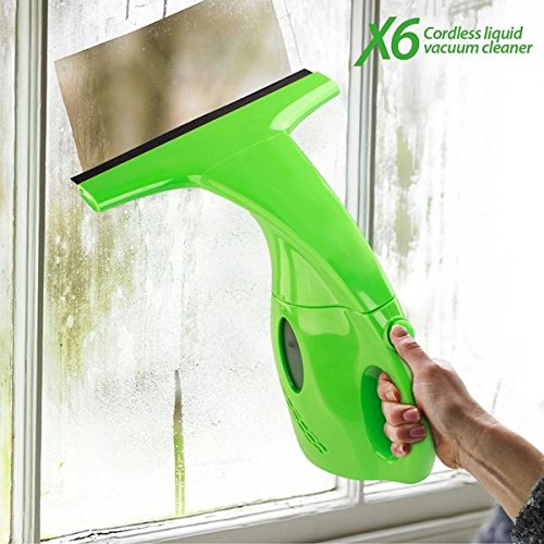 X6 Cordless Liquid Vacuum Mini Aspirador Limpiacristales, Verde, 8x22x15 cm