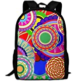 HOJJP HandtascheMost Durable Lightweight Trendy College Bags Daypack - Colorful Background