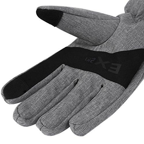 MCTi Winter Warm Arbeits Handschuhe Fahrrad Radfahren Touchscreen Thinsulate mit Wasserdicht TPU Herren Damen - 3