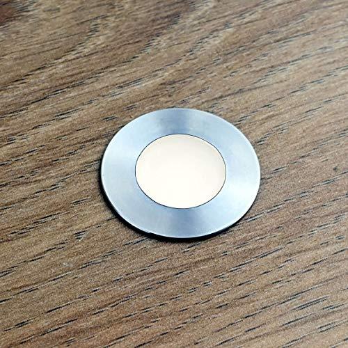 VBLED® LED Mini-Bodeneinbauleuchte,Bad-Beleuchtung,rostfreier Edelstahl, IP67 wassergeschützt (starkregensicher), 0,3W, 12VDC, 15 Lumen, 3000K mit 7 Meter Kabel...