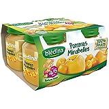 Blédina pots pommes mirabelle 4x130g dès 4/6 mois 520g - ( Prix Unitaire ) - Envoi Rapide Et Soignée