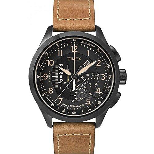 Timex Herren-Armbanduhr Man Iq Mns Linear Chronograph Quarz T2P277 (Timex Zurück)