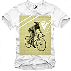 E1SYNDICATE T-SHIRT FIXIE TOUR BIKE TRIKOT PUG BICYCLE MOPS HIPSTER