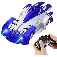 SGILE Coche Teledirigido Coche Trepador 4CH RC Escalar la Pared Coche de juguete de carrera Azul