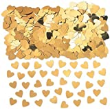 Table Confetti - Accessoire Mariage - Confettis - Sac de 14g - Petits Cœurs Dorés...