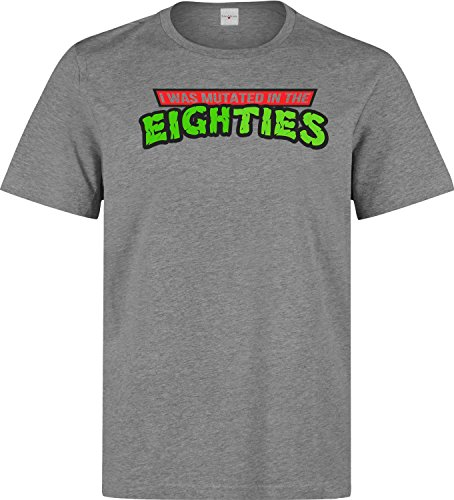 (I was mutated in the eighties funy slogan Men's T shirt X-Large)