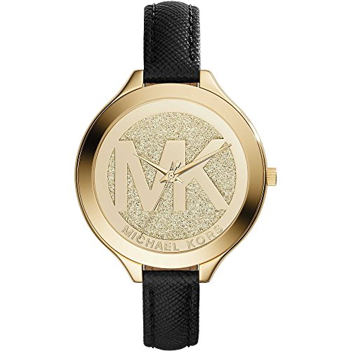 michael-kors-womens-slim-runway-42mm-black-leather-band-quartz-watch-mk2392