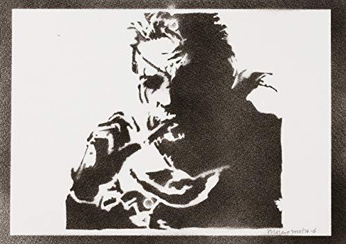 Solid Snake Metal Gear Handmade Street Art - Artwork - Poster