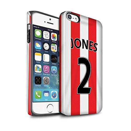 Offiziell Sunderland AFC Hülle / Glanz Harten Stoßfest Case für Apple iPhone SE / Pack 24pcs Muster / SAFC Trikot Home 15/16 Kollektion Jones