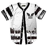 XiYang Hip-Hop 3D Herren Hemd - Urban Baseball Jersey Marihuana Y1724-73-M-XY
