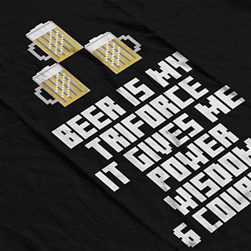 Beer Is My Triforce Legend Of Zelda Women's Sweatshirt Black